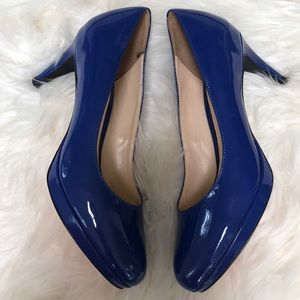 NEW Cole Haan Chelsea Low Patent Pump in RoyalBlue